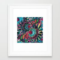 paisley Framed Art Prints featuring Paisley by Lara Gurney
