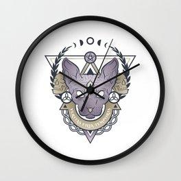 VERITAS FILIA TEMPORIS (color) Wall Clock