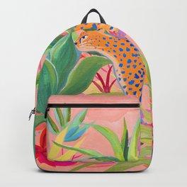 Leopard in Succulent Garden Backpack