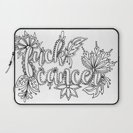Fuck Cancer Adult Coloring, Sweary Adult Coloring Laptop Sleeve