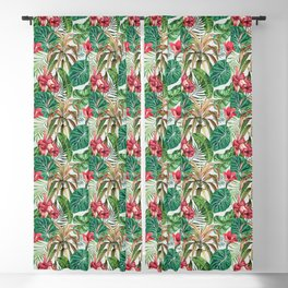 Tropica #pattern #illustration #tropical Blackout Curtain