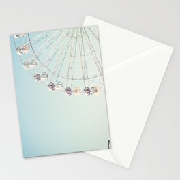 Soft blue ferris wheel  Stationery Cards