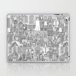 vintage halloween black white Laptop & iPad Skin