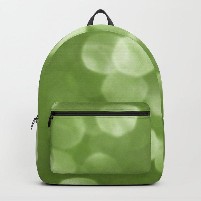 Sparkly Greenery Pantone bokeh Backpack