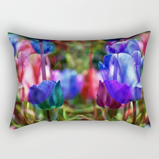 A Floral Dream of Spring Rectangular Pillow