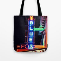 theater Tote Bags featuring Old Theater by americansummers