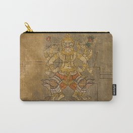 Wat Pho Thai Massage Accupressure Illustration Carry-All Pouch