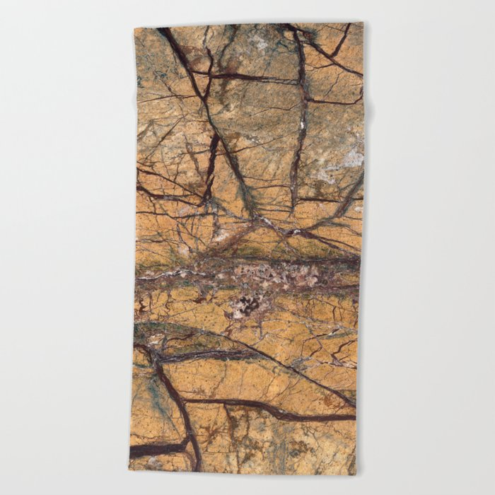 Marble Rain Forest Gold Beach Towel