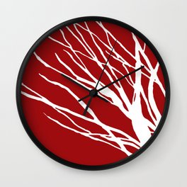 Crimson Blues Wall Clock