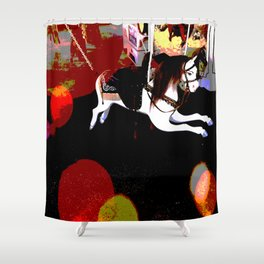 Flying Carousel Abstract Shower Curtain