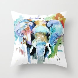 Animal painting Throw Pillow
