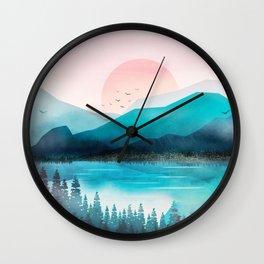 Morning Mountain Mist Wall Clock