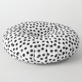 Googly eye pattern – white Floor Pillow