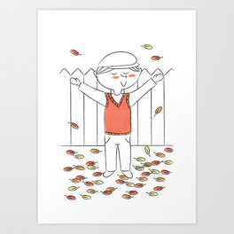 """""""There's no leaves like Autumn leaves"""" Art Print"""