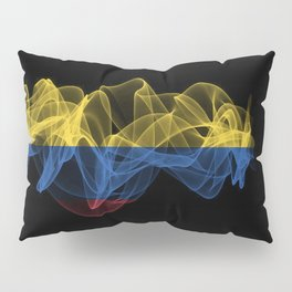Colombia Smoke Flag on Black Background, Colombia flag Pillow Sham