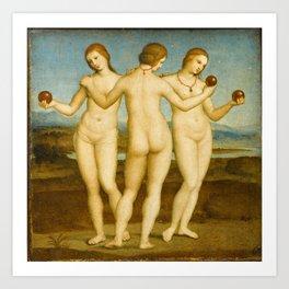 Raphael - The Three Graces Art Print