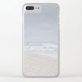 beach vibes x / half moon bay, california Clear iPhone Case