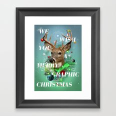 Merry Graphic christmas Framed Art Print