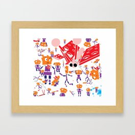 bots Framed Art Print