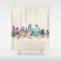 texas Shower Curtains featuring austin texas  by bri.buckley