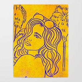 Original Linocut Art By Gina Lee Ronhovde Poster