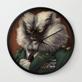 Colonel Meow Wall Clock
