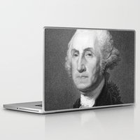 washington Laptop & iPad Skins featuring George Washington by Palazzo Art Gallery