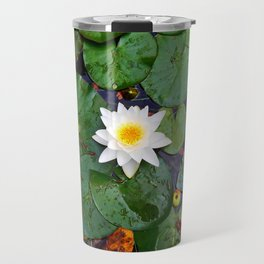 Apples and Plants in the Pond Travel Mug