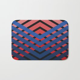 Blue & Red Connections Bath Mat