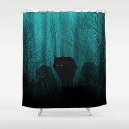 Wolf Pass Shower Curtain
