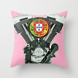 Portuguese pure evol hot  pink Throw Pillow