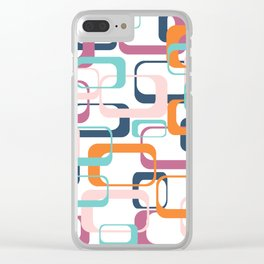 Mid Century Modern Swanky Pattern Clear iPhone Case