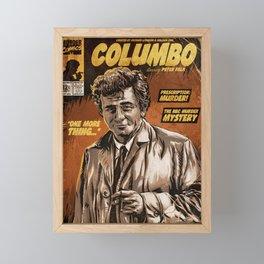 Columbo - TV Show Comic Poster Framed Mini Art Print