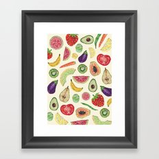 Froot and Veg Framed Art Print