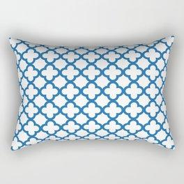 Quatrefoil_Blue Rectangular Pillow