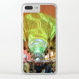 Playtime on Fremont Street Clear iPhone Case