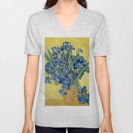 1890-Vincent van Gogh-Irises-73,5x92 Unisex V-Neck