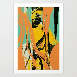 Abstract marble Art Print