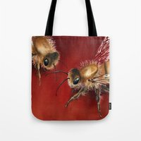 bees Tote Bags featuring Bees by Dana Martin