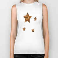 glee Biker Tanks featuring Christmas Goes Gold by Louisa Catharine Art And Patterns
