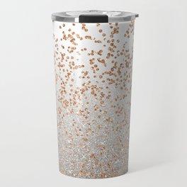 Glitter sparkle mix - rose gold & silver Travel Mug