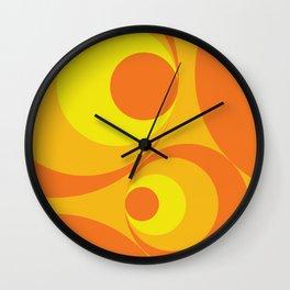 Crazy Orange Circles Wall Clock