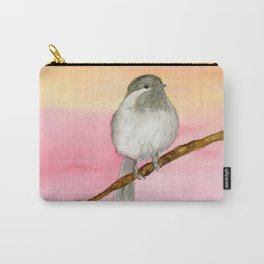 Watercolor Black Cap Chickadee In Sunrise Carry-All Pouch