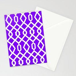 Grille No. 3 -- Indigo Stationery Cards