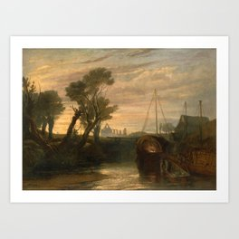 "J.M.W. Turner ""Newark Abbey"" Art Print"