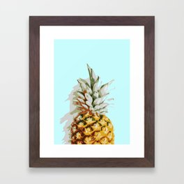 Summer Pineapple Framed Art Print