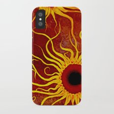 Psychedelic Susan 002, Sunflowers Slim Case iPhone X