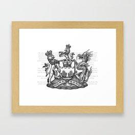 Coat of arms of Hongkong Framed Art Print