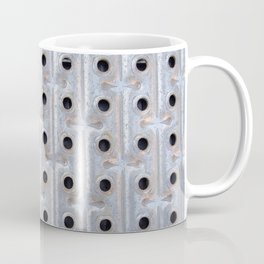Background. Metallic grid. Urban and grunge. Coffee Mug