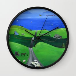 Hilly Heartfelt Wall Clock